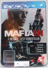 PS4 MAFIA 3 T-Shirt Grösse L Vorbestellerbox