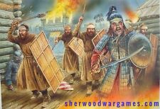 28mm Medieval Mongol Infantry (Steppe Warriors) Deus Vult, Fireforge, Crusades
