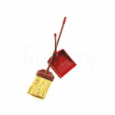 1 Set Miniature Sweeping Broom Dustpan Dollhouse Furniture Accessory NEW