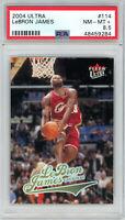 LeBron James Cleveland Cavaliers 2004 Ultra Basketball Card #114 Graded PSA 8.5