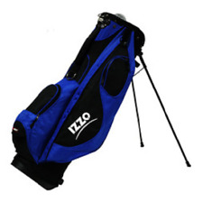 Golf Carry Stand Bag Izzo Blue Ultri Light 4.9 lbs Dual Strap