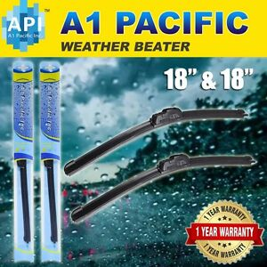 "All season Bracketless J-HOOK Windshield Wiper Blades OEM QUALITY 18"" & 18"""