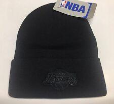 LOS ANGELES LA LAKERS NBA BASKETBALL Blackout Cuffed BEANIE Caps Hat Beanies