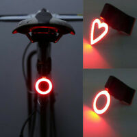 USB LED Bike Rear Tail Light Lamp Bicycle Safety Bulb Rechargeable Supply Bulbs
