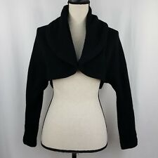 Vince Medium Sweater Black Crop Open Front Shrug L/S Cashmere Alpaca Cardigan