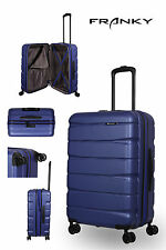 Franky ABS13 Reisekoffer Gr.M, 4x360° Doppelrollen, TSA-Schloss, dunkelblau