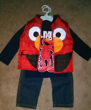 BOY'S SESAME STREET ELMO 3-PIECE OUTFIT ~ SIZE 2T ~ BRAND NEW! * MONSTER TIME!!