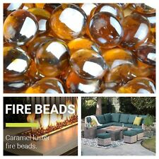 Caramel Luster Fire Beads For Gas Fireplace Fire Pit Glass Filling Drops 10 lbs