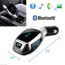 REPRODUCTOR TRANSMISOR BLUETOOTH MP3 FM MECHERO COCHE VOLUMEN USB SD LED LCD