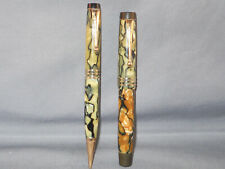 Parker Vintage Black and Pearl Duofold fountain pen and pencil set--working