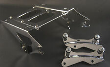 Chrome Tour Pak luggage rack + 4 point docking kit Harley Davidson Touring 2014