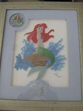 Disney Artist Collection Little Mermaid 20th Anniversary Framed Pin Set