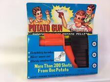 Vintage Potato Gun Pistol Kid's Toy Shoots Potato Pellets Retro Fun NEW NIB