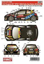 Studio27 DC1088 1:24 Peugeot 207S2000 EPIU #206 Rally San Remo 2014 2nd Decals