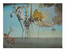 Salvador Dali Die Versuchung des Heiligen Antonius Poster Kunstdruck Bild