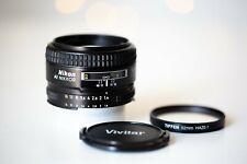 NIKON AF NIKKOR 50mm F/1.4 D Lens W/UV filter