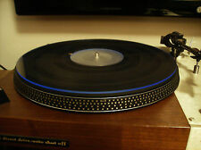 ACRYLIC MAT for turntable , platter  (clear with reflecting BLUE EDGE) 3mm thick