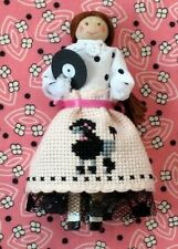 Poodle Skirt Patty - Clothespin Doll Kit - The Needle's Notion - New Kit