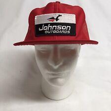 New listing Vintage Johnson Outboards Motors Boat Patch Snapback Mesh Hat Cap Horizon Usa