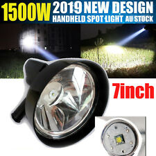 Handheld LED Spot Light Rechargeable CREE Spotlight Hunting Shooting 7inch 1500w