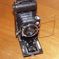No.7 Ensign Carbine 10.5mm f4.5 TESSAR 120 roll film folding vintage camera UK