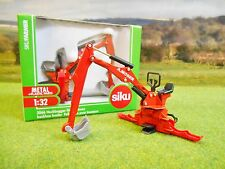 SIKU TRACTOR MOUNTED MOSER BACKHOE LOADER DIGGER 1/32 2066 NEW & BOXED