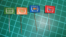 Dibevo dieren hengelsport specialist stick pin badge 60's Dutch speldje 4pcs