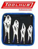 Tool Hub 9429 4 Piece Heavy Duty Grip Wrench Set Vice Locking Lock Pliers Mole