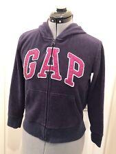 Gap Kids Navy Blue Hooded Zip Up Sweat Jacket Hoodie Pink GlItter Logo XL 12yr