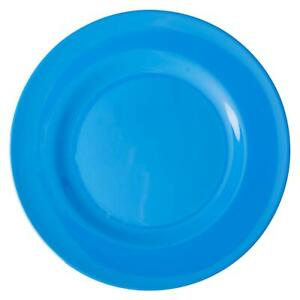 RICE DK Melamine Dinner Plate Ocean Blue, Great for indoors, picnics and camping