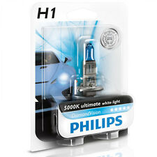 H1 Philips Diamond Vision 5000k Headlight Bulb 55W - Authentic Germany One Pack