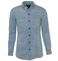 D&G DOLCE & GABBANA BRAD Jeans Shirt Blue Chemise Bleu 01914