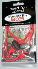 """Elastic Shoe Laces Quick Transition Cord 28"""" Red"""
