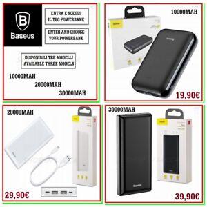 power bank BASEUS carica batteria esterna portatile powerbank x smartphone NEW