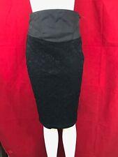 BNWT RIVER ISLAND Starlet Black Knee Length Pencil Skirt UK10 W27 x L27 RRP £35