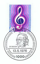 Berlín 1976: Deutscher cantante federal nº 522 con etiquetas primero-sello especial! 1a! 1510