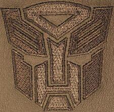 2010-2014 Chevrolet Camaro Leather Console lid pad w/ Autobot Logo 22847880