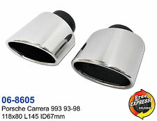 Exhaust trims tailpipe tips S/Steel for Porsche Carrera 993 93-98 06-8605