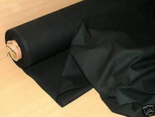 12 Metres Black Calico  –  Upholstery Curtain Fabric