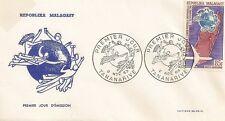 ENVELOPPE PREMIER JOUR MADAGASCAR TANANARIVE UNION POSTALE UNIVERSELLE 1963
