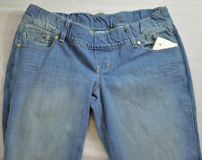 "WOMENS OLD NAVY MATERNITY capris JEANS SIZE 6 2"" ELASTIC WAISTBAND FIVE POCKET"