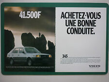 5/1980 PUB AUTOMOBILE VOLVO 345 VOITURE CAR / PARFUM GUY LAROCHE FIDJI FRENCH AD