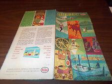1962 Esso Quebec Vintage Road Map /  Nice Cover Art !!
