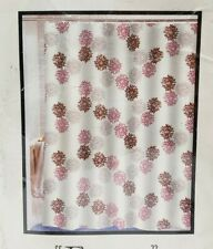 """NEW Pink and White Floral Shower Curtain """"Emma"""" Extra Long - 70"""" x 84"""""""