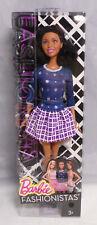 Barbie Fashionistas Wafe 1 2014 Afro brünett Kleid blau/lila CFG17 RAR NEU NRFB