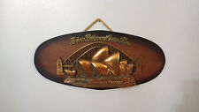 Vintage Sydney Harbour Bridge and Opera House Wall Hanging Wall Plaque Wood Base