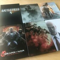 STEELBOOK CASE - CALL OF DUTY GEARS OF WAR MEDAL OF HONOR HITMAN BATTLEFIELD