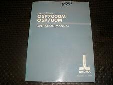 Okuma Osp700M/7000M Control Operation Manual