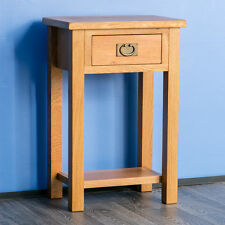 Surrey Oak Telephone Table / Solid Hardwood Console Table /Rustic Oak Hall Table