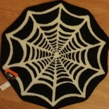 spider web rug Halloween black and white brand new table top Decor floor decor